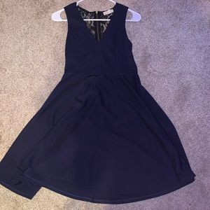 navy skater hoco dress